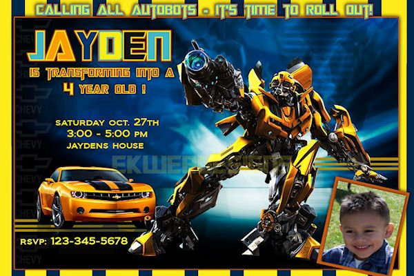 Transformers Birthday Invitations Ideas Bagvania Free Printable
