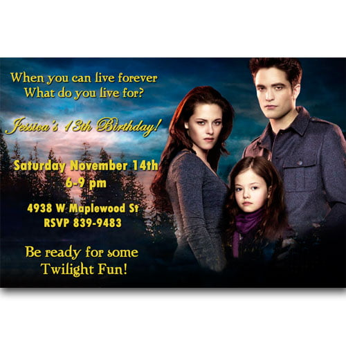 twilight birthday party invitations ideas printable