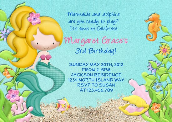 Under The Sea Birthday Invitations Printable