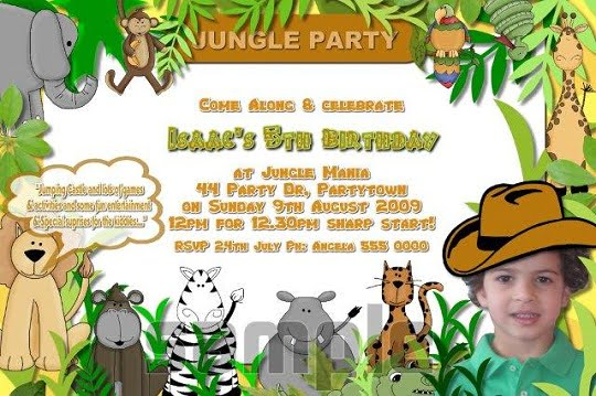 Zoo Birthday Invitations Template