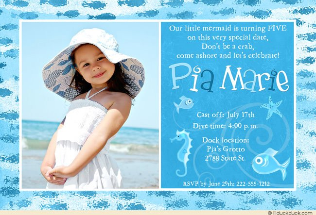 Color Fish 5th Birthday Invitation Wording Ideas
