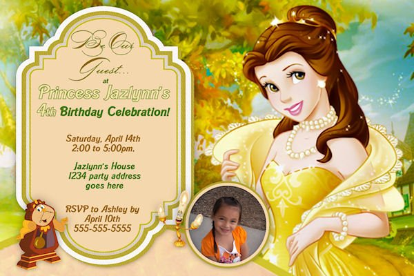 Beauty and the Beast Birthday Party Invitation Ideas – Bagvania FREE Printable Invitation Template