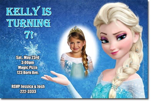 Elsa Frozen Birthday Party Invitation Ideas Bagvania FREE