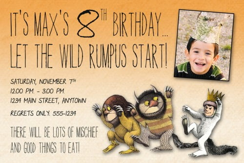 Custom photo The  Wild Birthday party invitation ideas