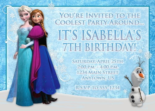 photograph relating to Free Printable Frozen Invites named Which includes Mother And Apple Pie: Frozen Birthday Celebration And Free of charge