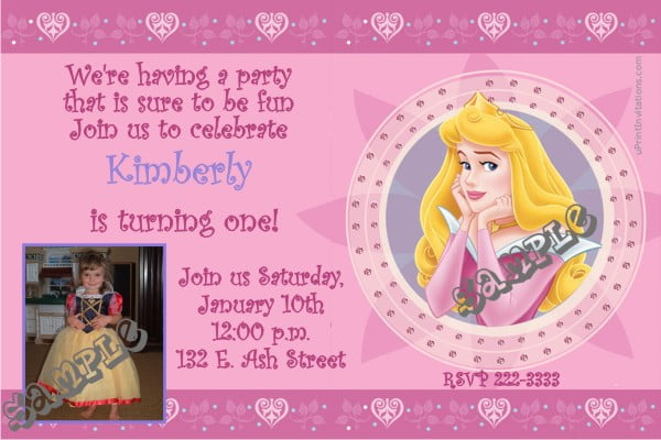 Sleeping Beauty Birthday Party Invitation Ideas Bagvania FREE – Sleeping Beauty Party Invitations