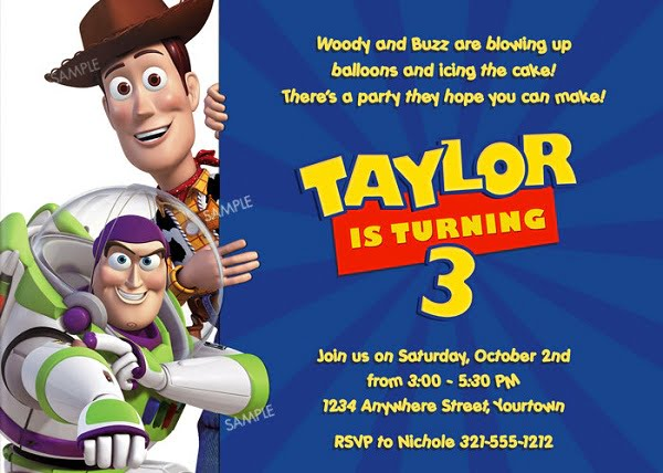Toy story birthday party invitation ideas bagvania free for Toy story invites templates free