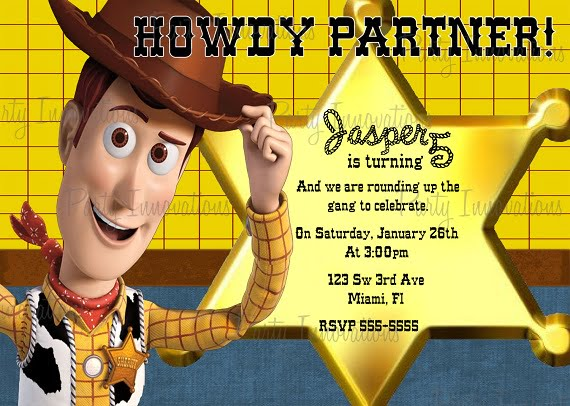 Woody birthday party invitation ideas bagvania free for Toy story invites templates free