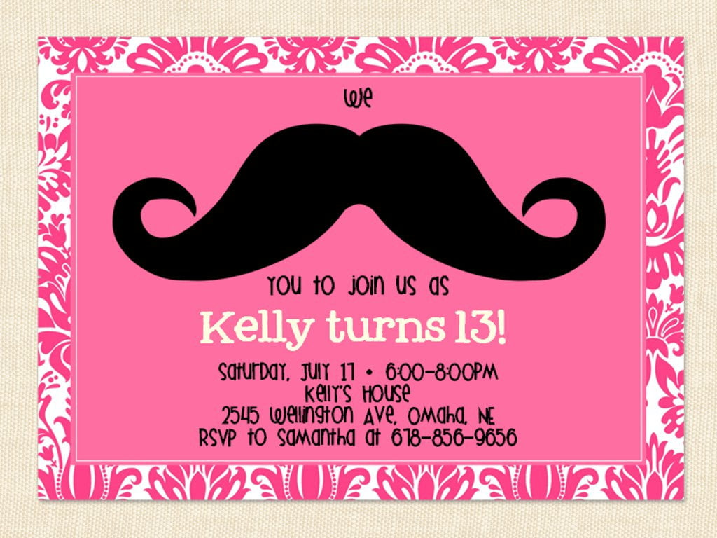 13th Birthday Party Invitation Ideas Bagvania FREE Printable – Teenage Girl Party Invitations