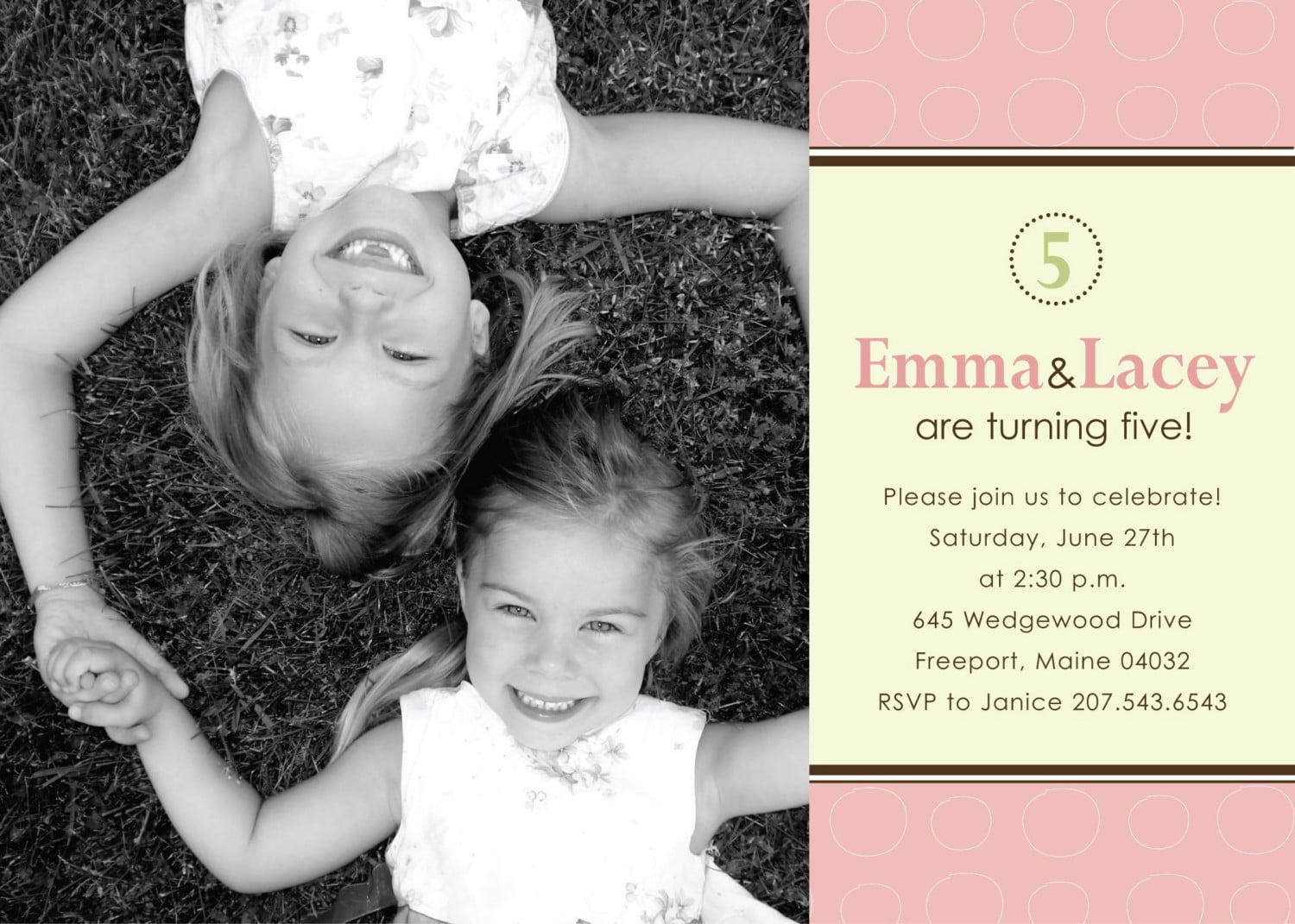 Joint Birthday Party Invitations – Bagvania FREE Printable ...