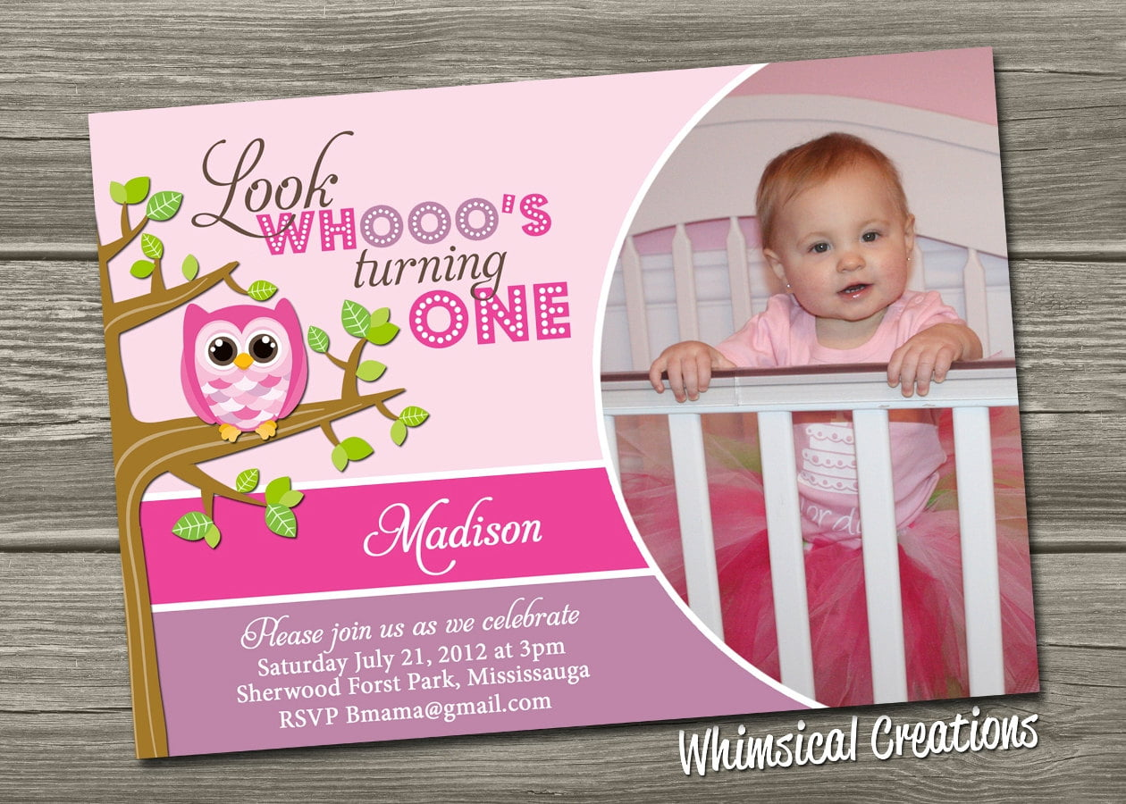 Owl St Birthday Invitations Ideas Bagvania FREE Printable - Baby girl first birthday invitation ideas