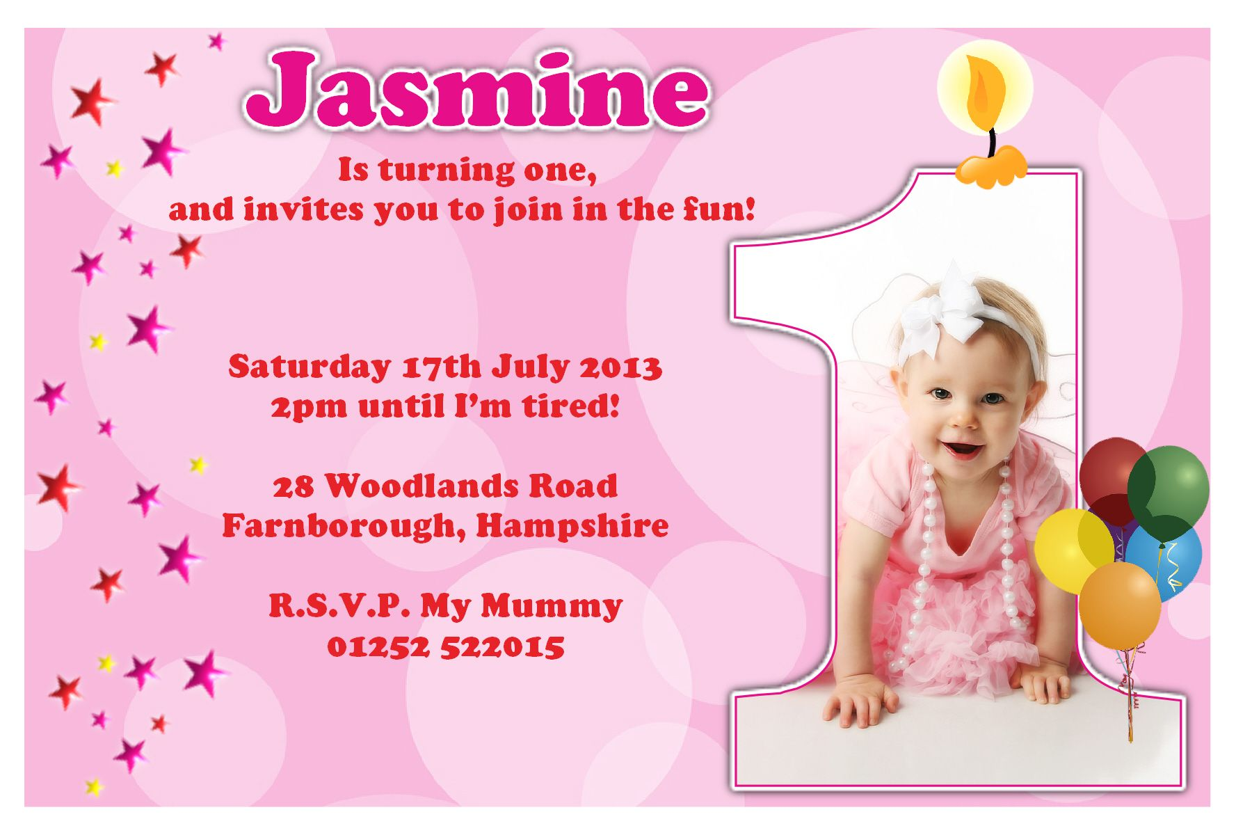 First Birthday Party Invitation Ideas – Bagvania FREE Printable Invitation Template