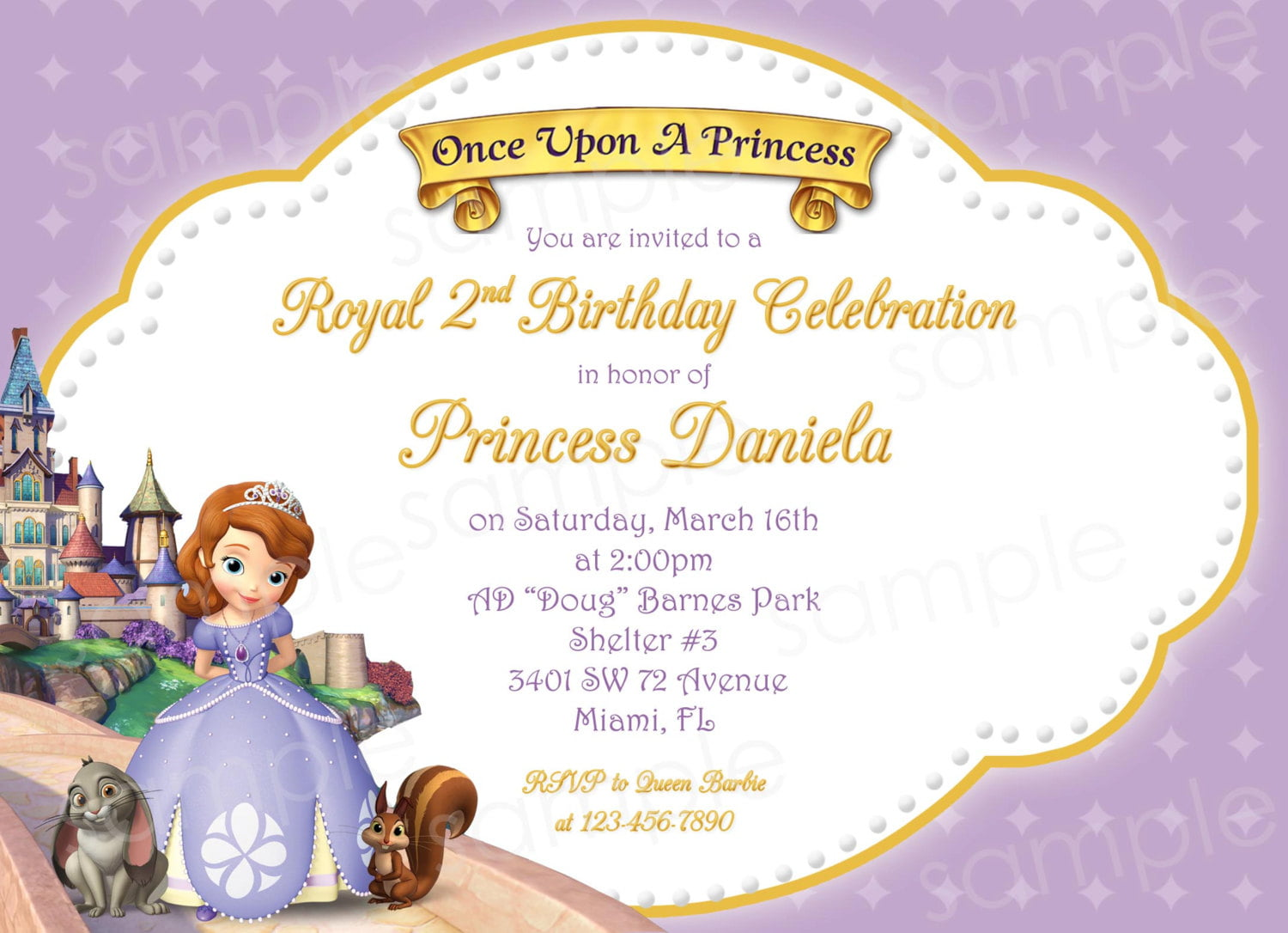 Princess Sofia And Friends Birthday Invitations