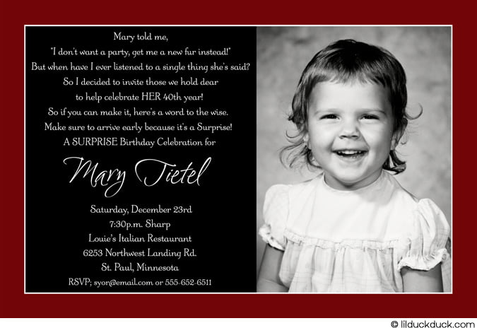 40th birthday invitation – bagvania free printable invitation template, Birthday invitations