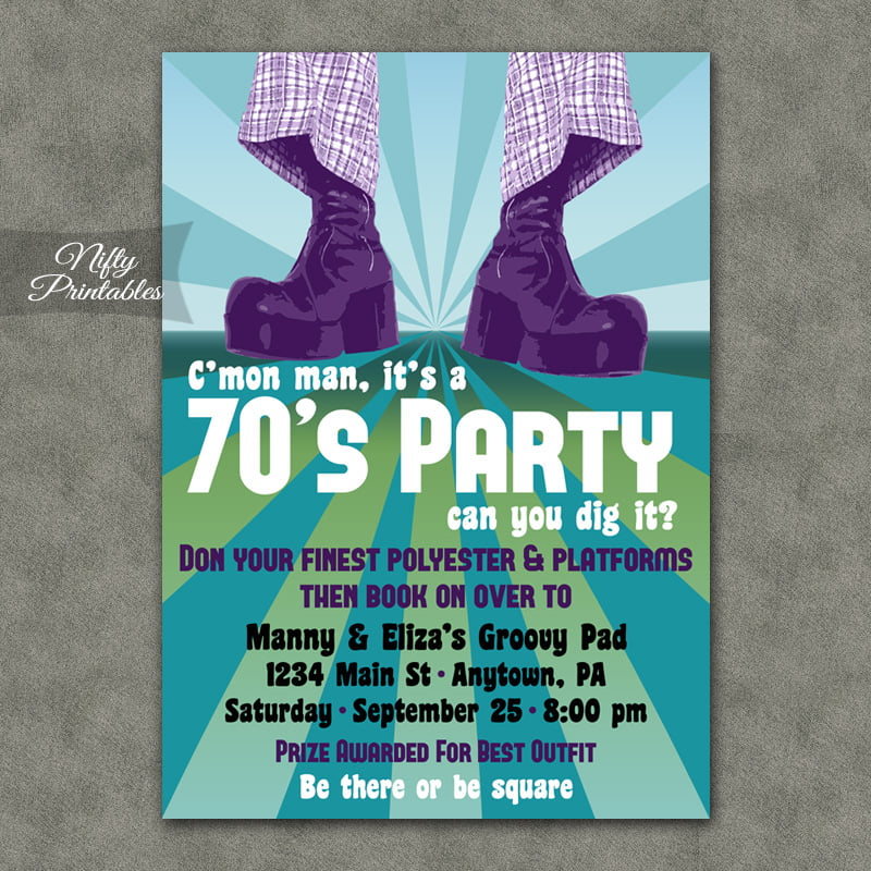 Oldies 70 Birthday Invitations