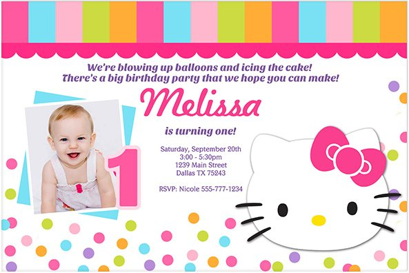 Pink First Birthday Invitations is awesome invitations ideas