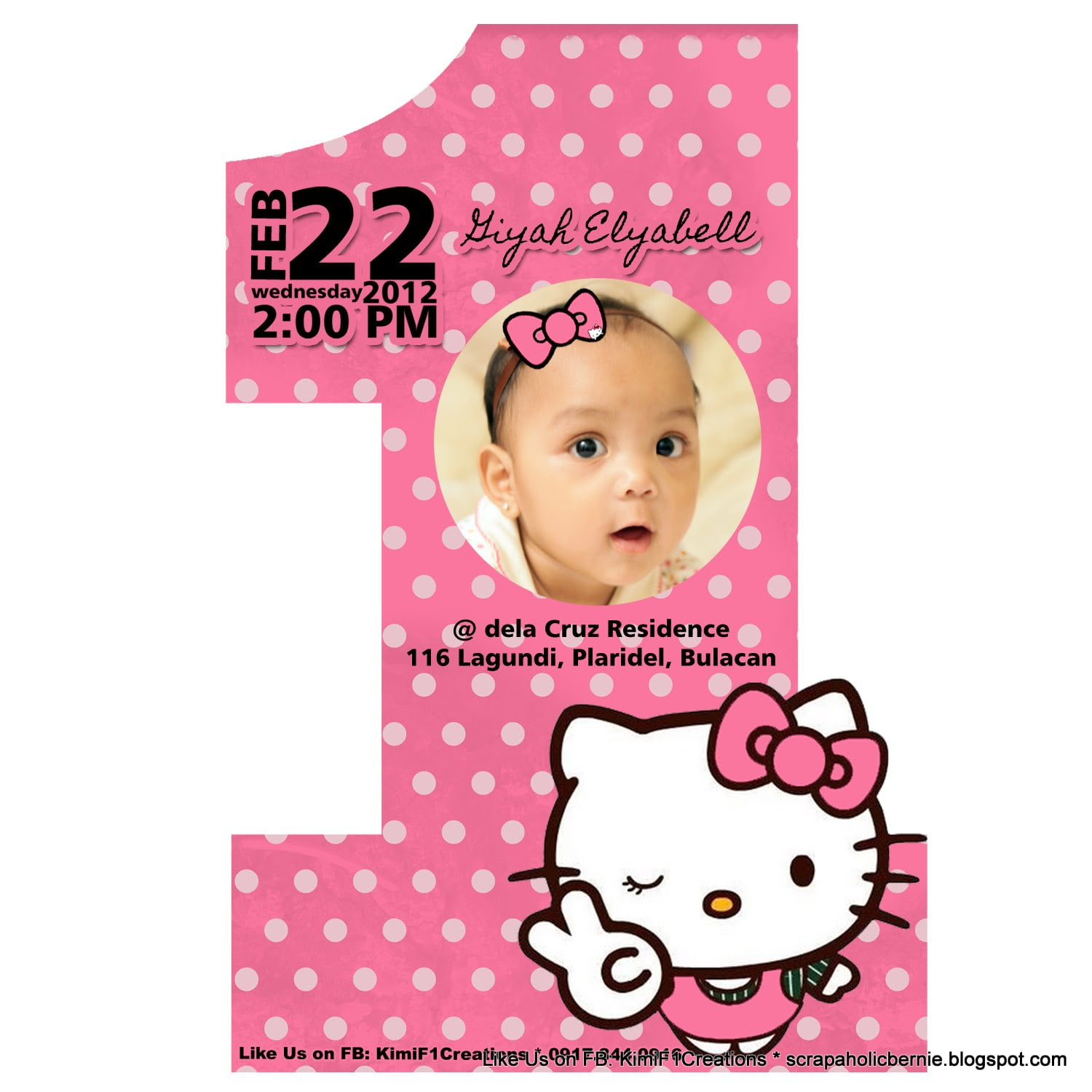 Hello Kitty Birthday Invitation Bagvania FREE Printable