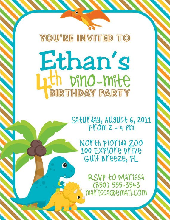 cretaceous dinosaur birthday party invitations  u2013 bagvania
