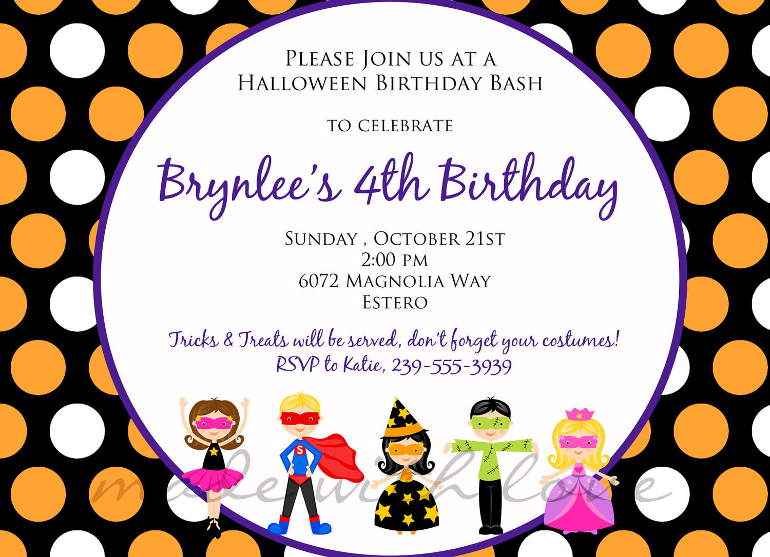 Kids Birthday Party Invitation Wording – Bagvania FREE Printable ...