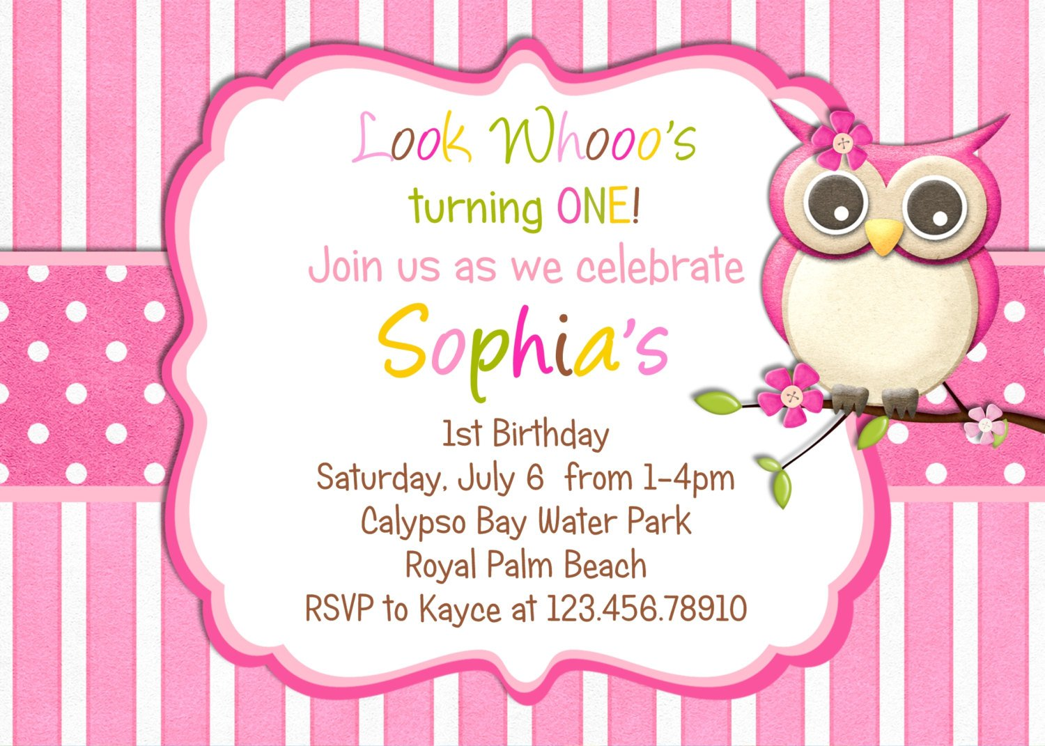 Owl Birthday Party Invitations – Bagvania FREE Printable Invitation ...