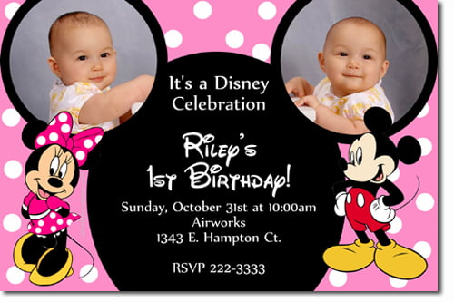 Mickey and Minnie Mouse Birthday Invitations – Bagvania ...