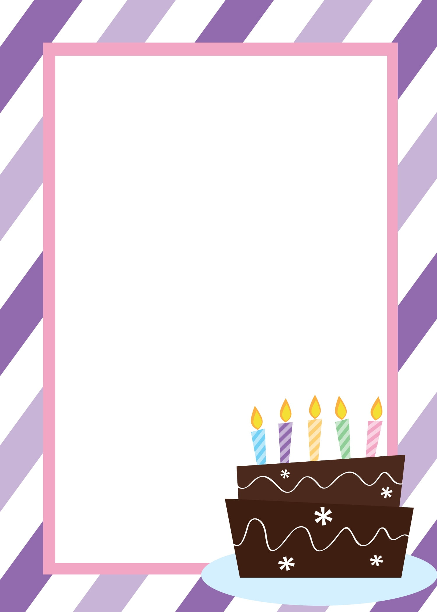 Blank Birthday Invitation Template  Birthday Invitation Templates Free Word