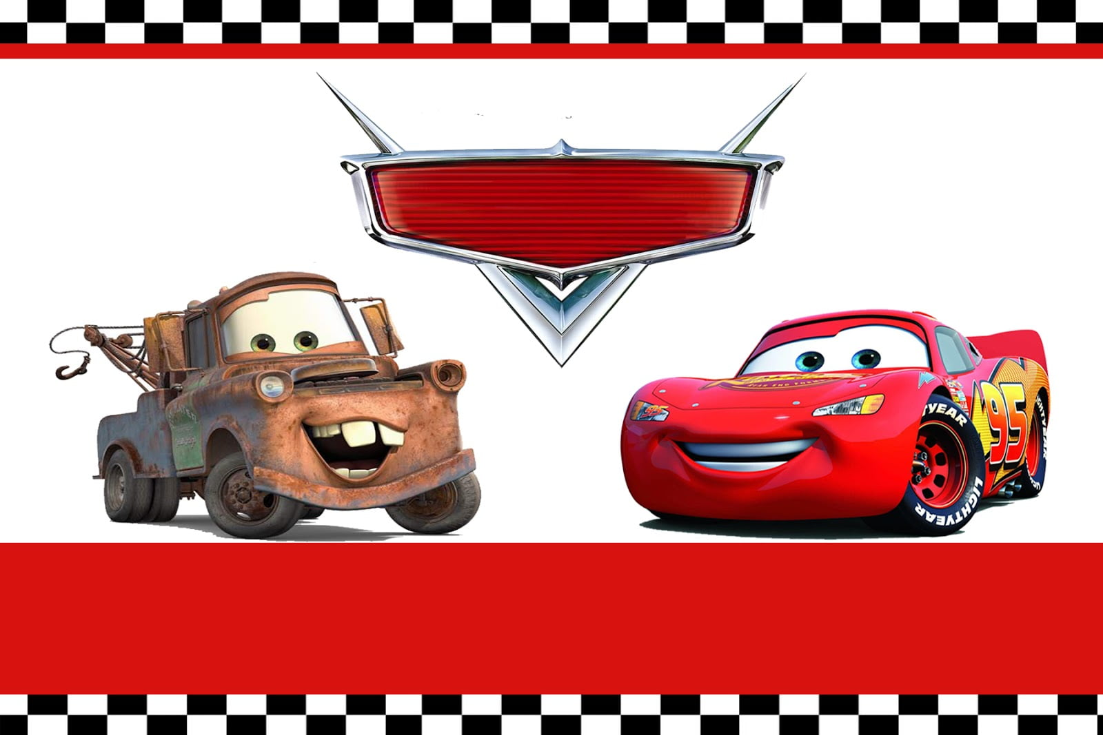 FREE Printable Lightning Mcqueen Birthday Invitations