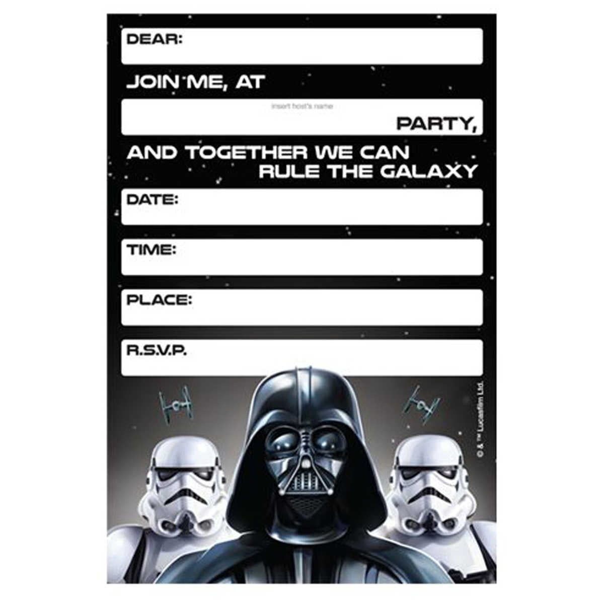 Lego Star Wars Birthday Invitations Template Bagvania