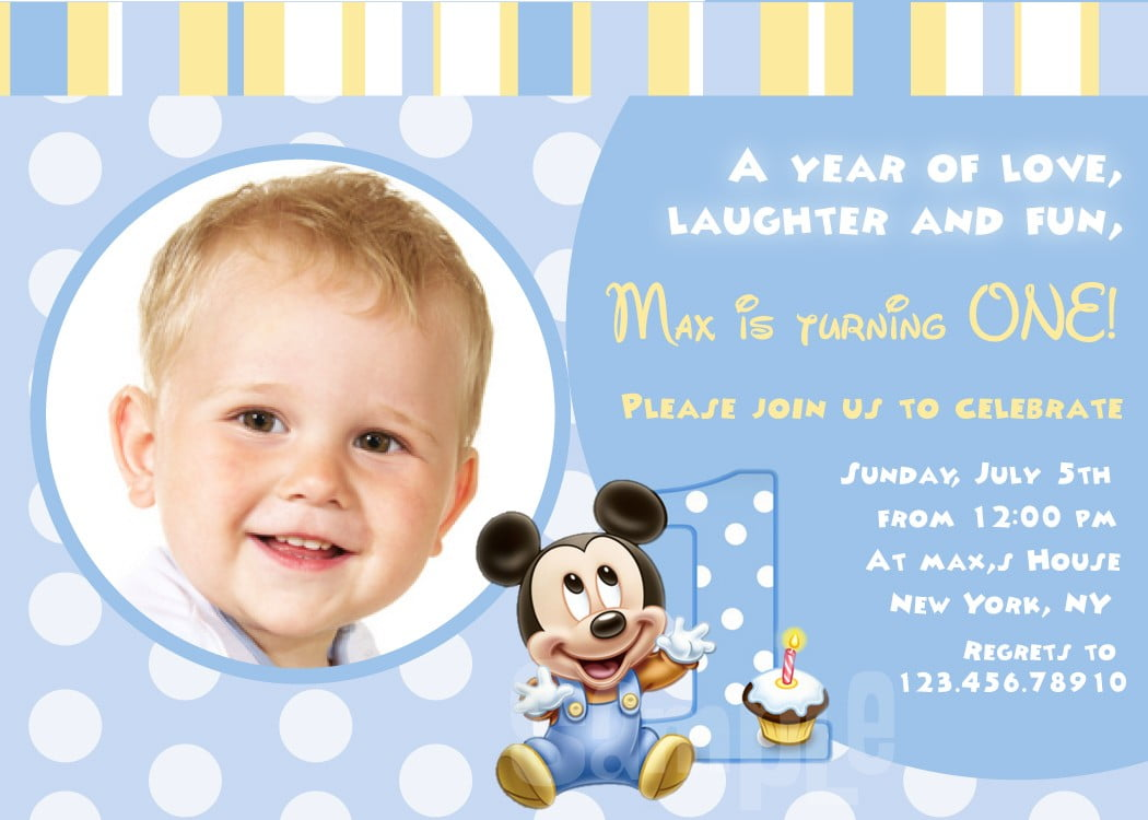 Baby First Birthday Invitations – Bagvania FREE Printable Invitation Template