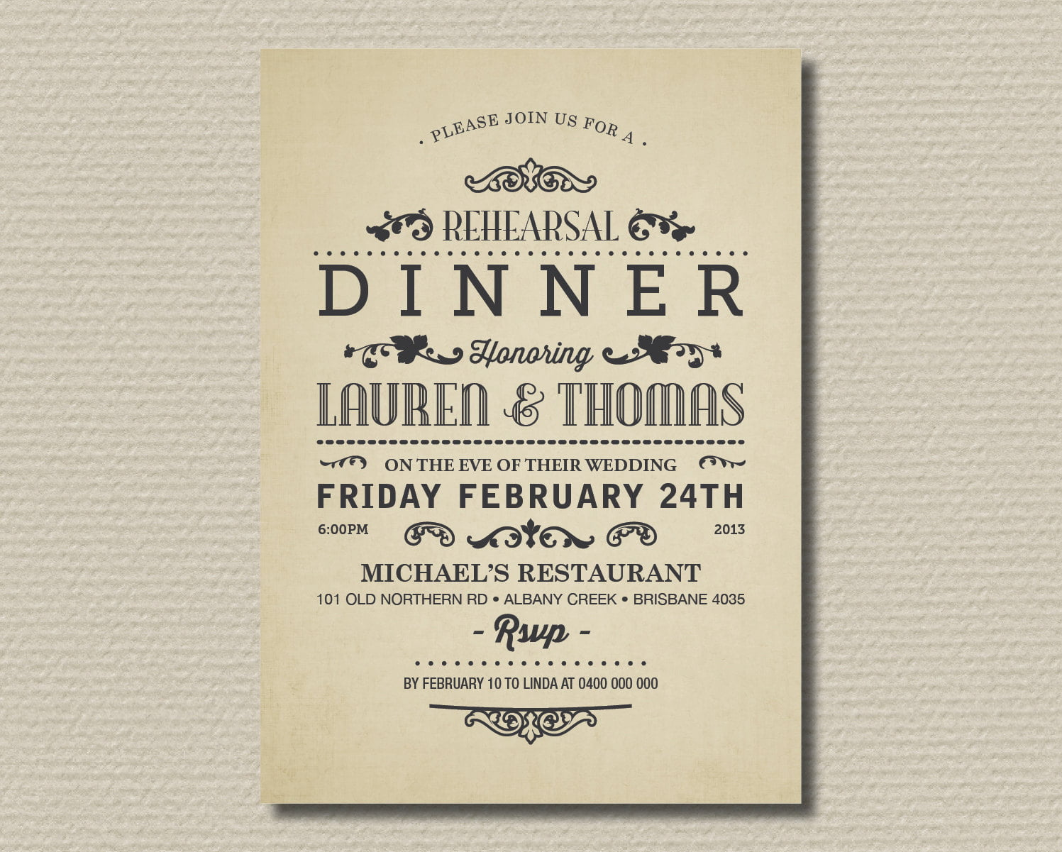 Birthday dinner invitation wording ideas bagvania free printable classical birthday dinner invitation wording ideas stopboris Images