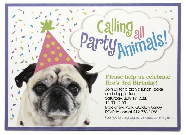 dog birthday party invitations | BagVania Invitations Ideas