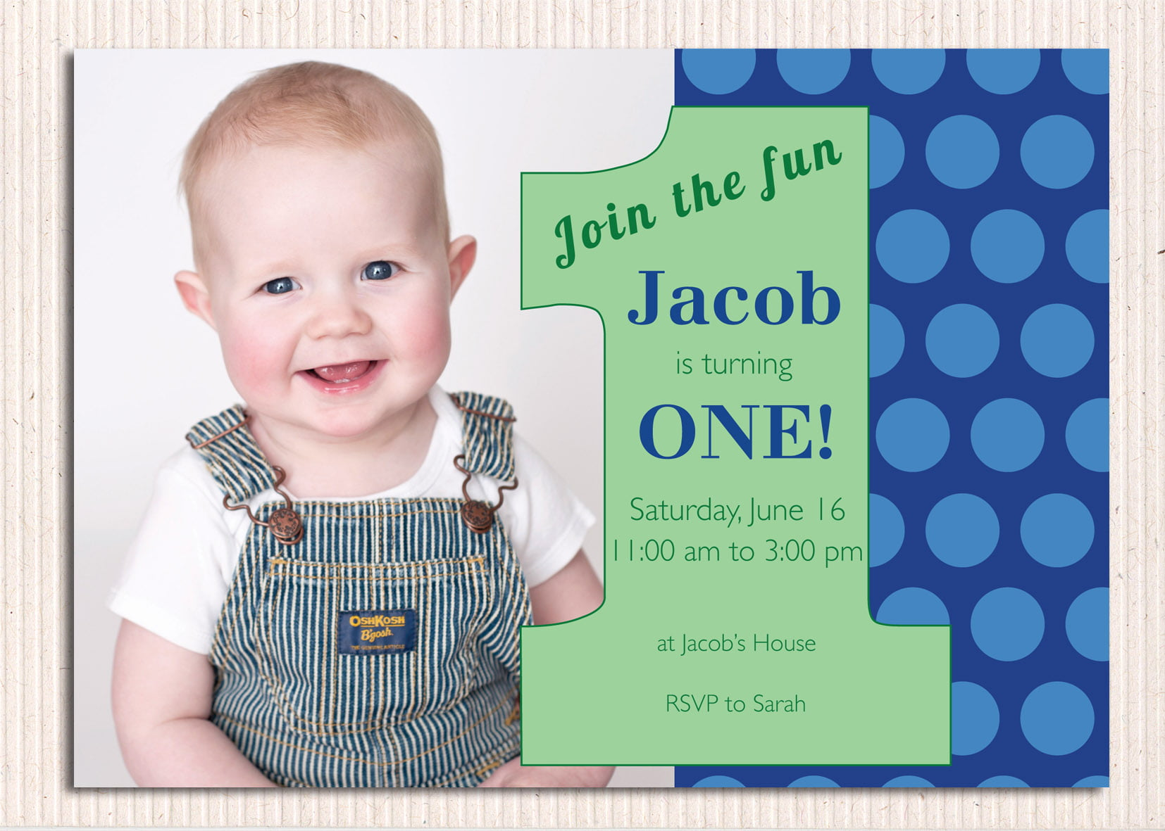 First Birthday Photo Invitations – Bagvania FREE Printable Invitation Template