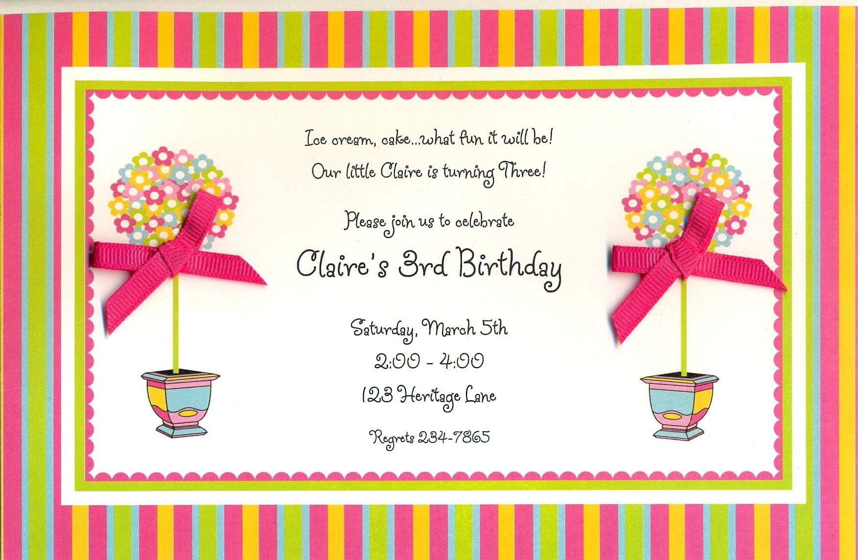 Birthday dinner invitation wording ideas bagvania free printable bright topiaries brunch birthday dinner invitation wording ideas filmwisefo Gallery