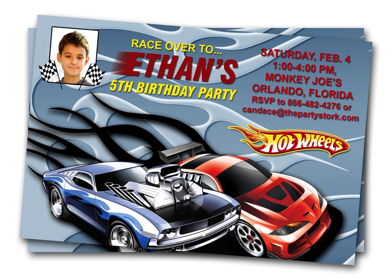 Hot Wheels Birthday Invitations Bagvania Free Printable