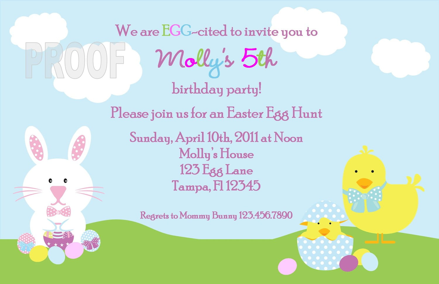 Easter Birthday Invitations Ideas – Bagvania FREE Printable ...