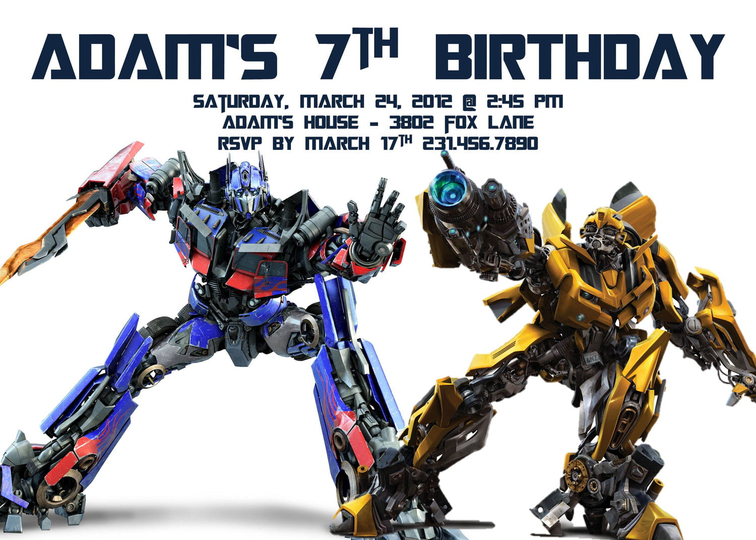 Transformer Birthday Invitations is one of our best ideas you might choose for invitation design