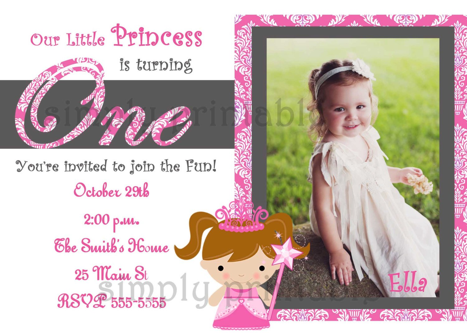 cheap first birthday invitation template  u2013 free printable