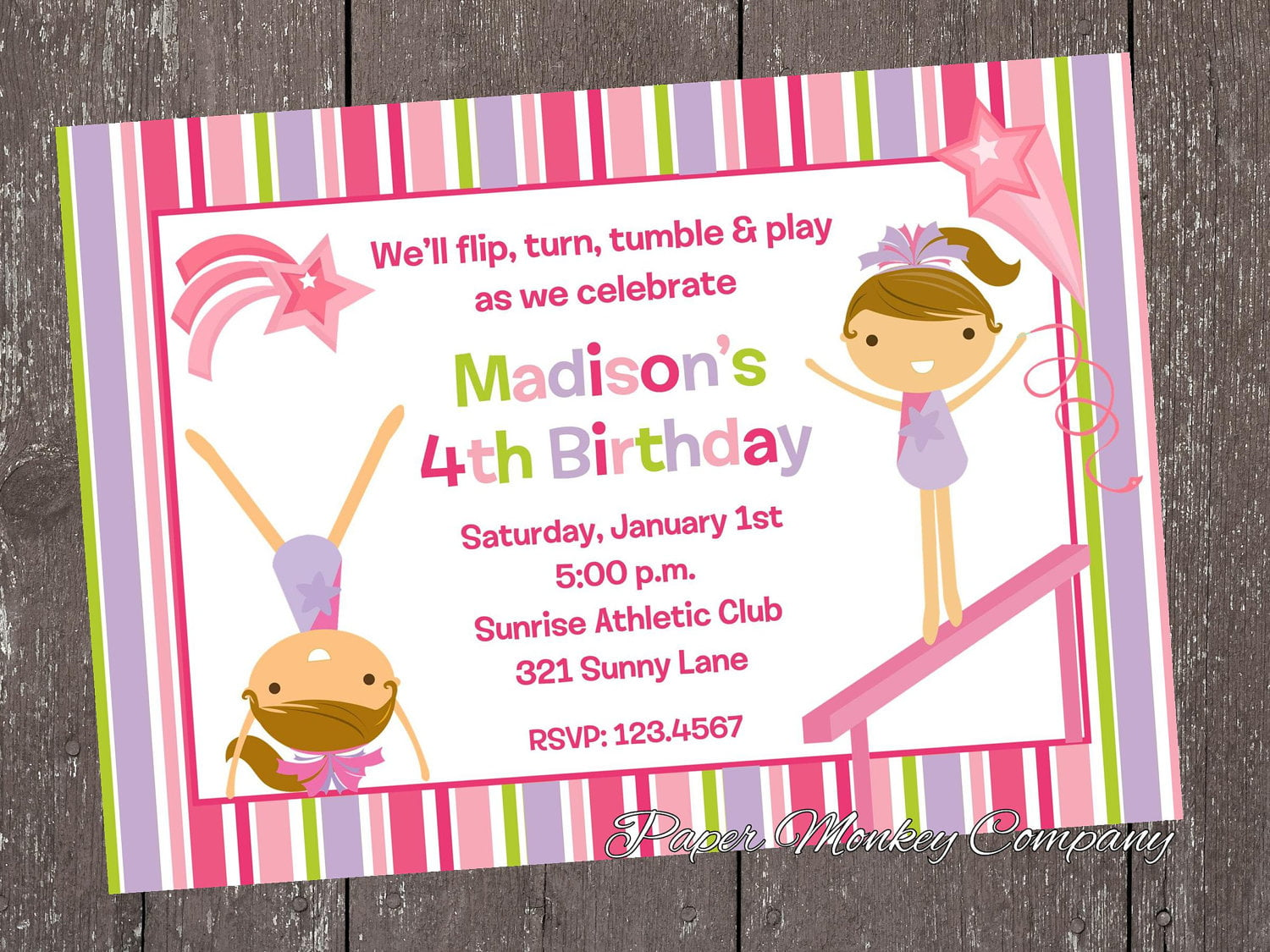 gymnastic birthday invitations  u2013 free printable birthday