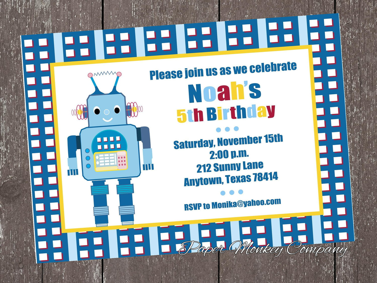 robot birthday invitations  u2013 bagvania free printable