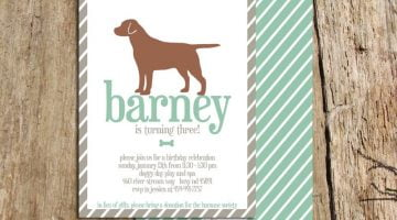 Dog Birthday Party Invitations FREE Printable Invitation