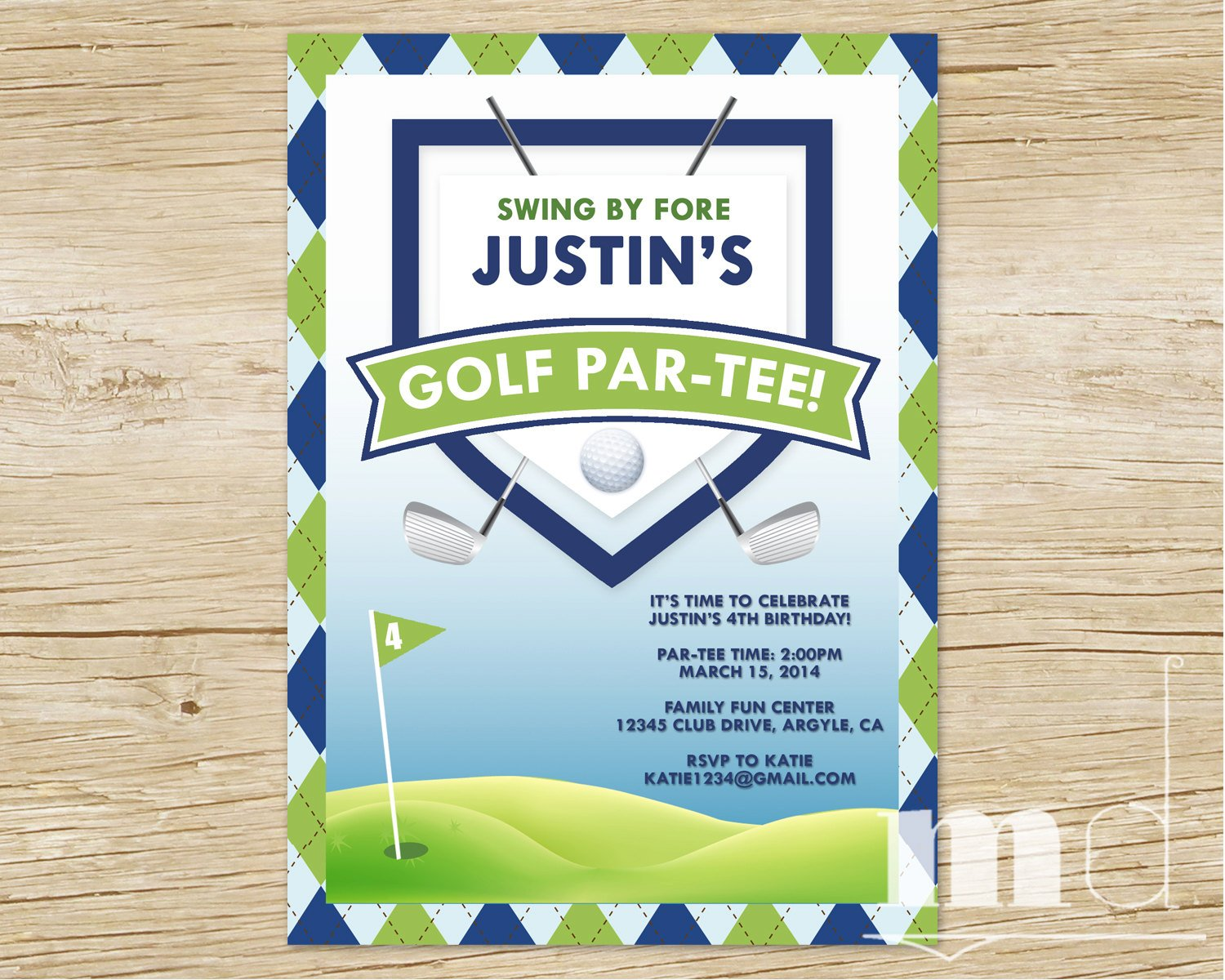 Golf Themed Birthday Invitations ideas – Bagvania FREE ...