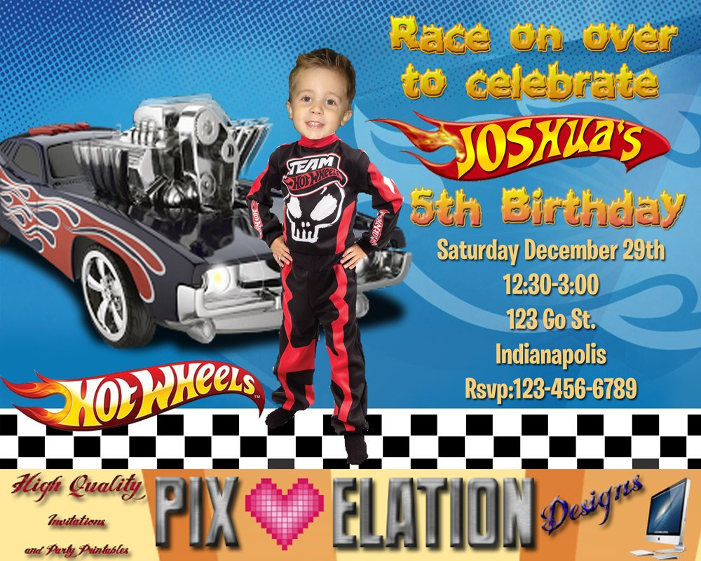 Hot Wheels Birthday Invitations