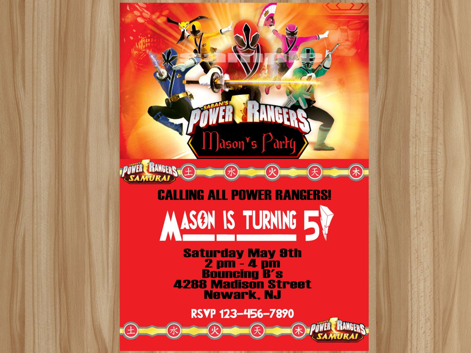 Power Ranger Birthday Invitations – Bagvania FREE Printable Invitation Template