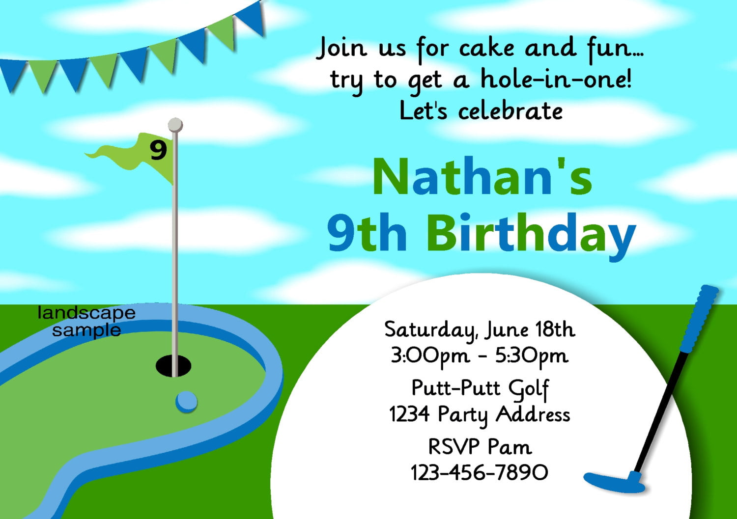 Golf Themed Birthday Invitations ideas – Bagvania FREE Printable Invitation Template