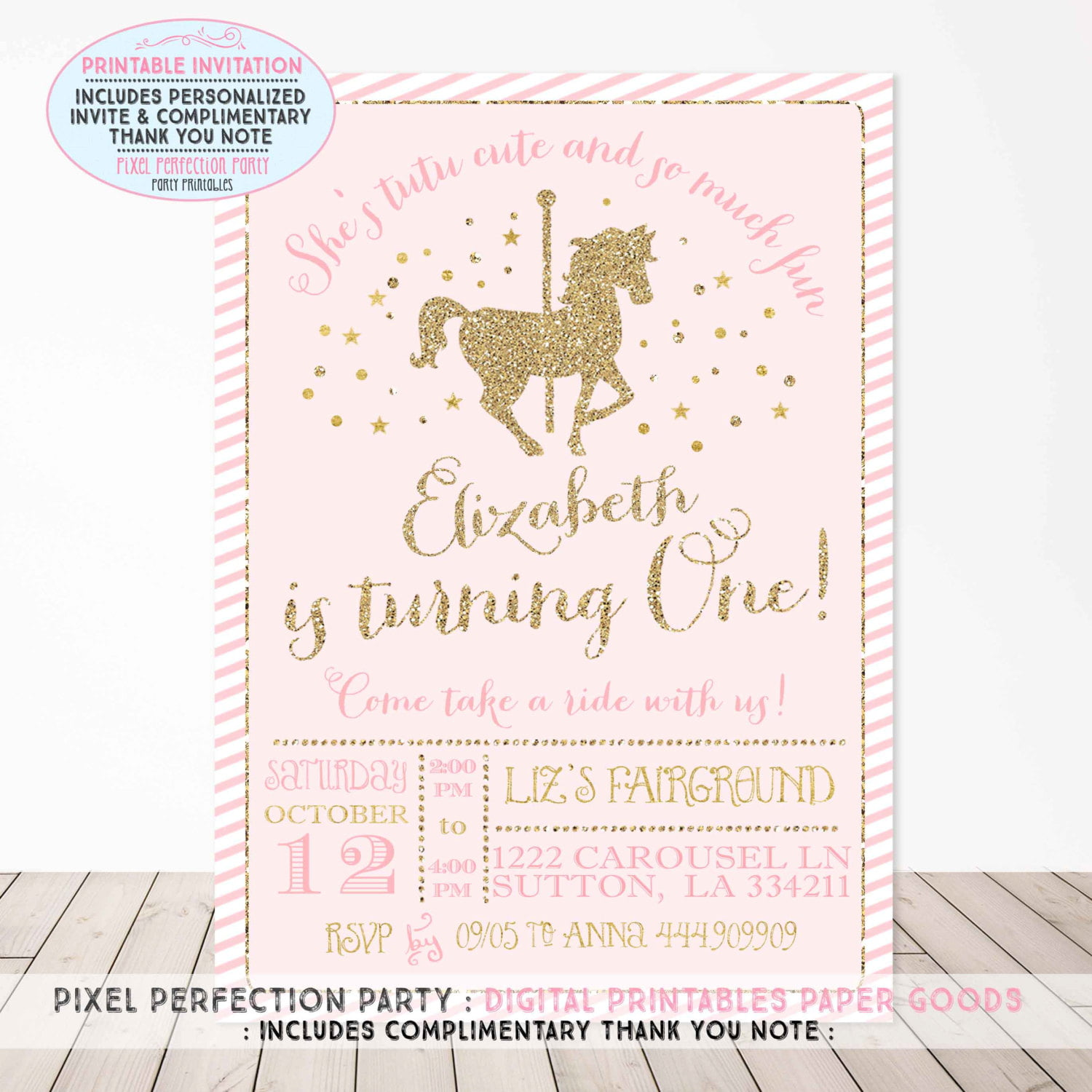 Free Thank You Cards Print in addition Pink Royal Princess Birthday Party also Bohemian Coachella Inspired Birthday Party as well 18 Holiday Gifts For Students That Wont Break The Bank together with Carousel Birthday Invitations. on graduation party free printables