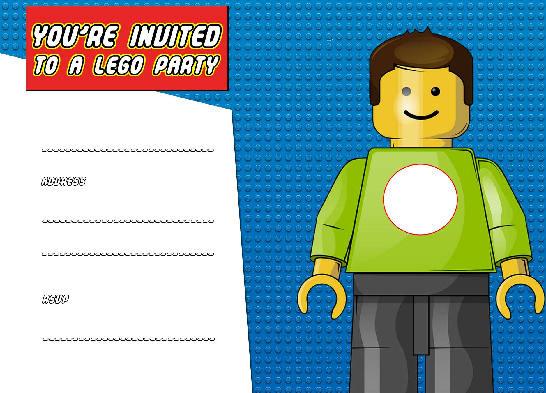 FREE Printable LEGO Birthday Invitation Template – Bagvania FREE Printable Invitation Template
