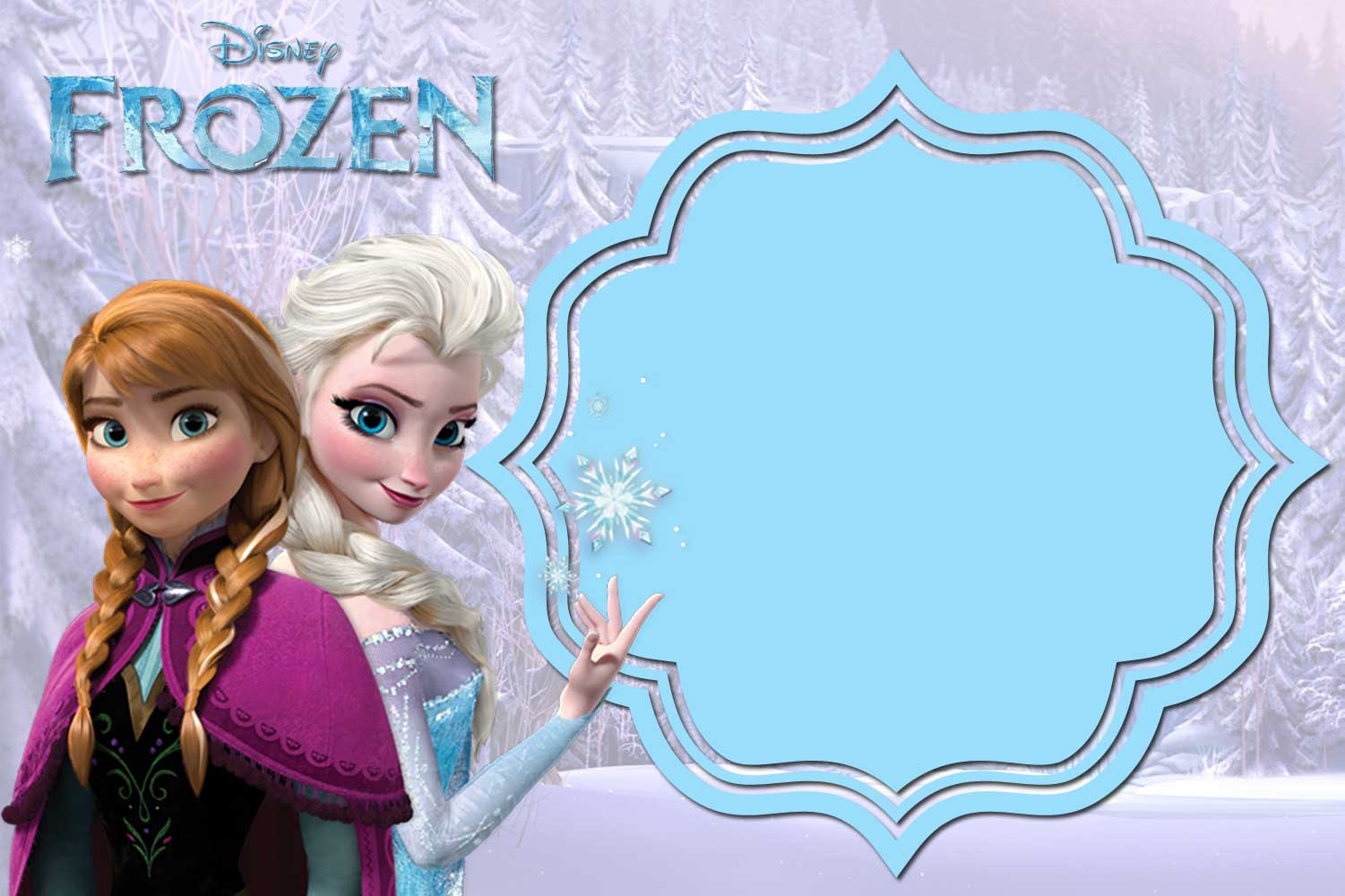 FREE Printable Frozen Invitation TemplateWaterfall