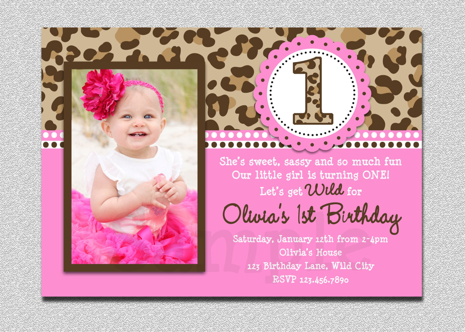 1st Birthday Invitation Wording Example