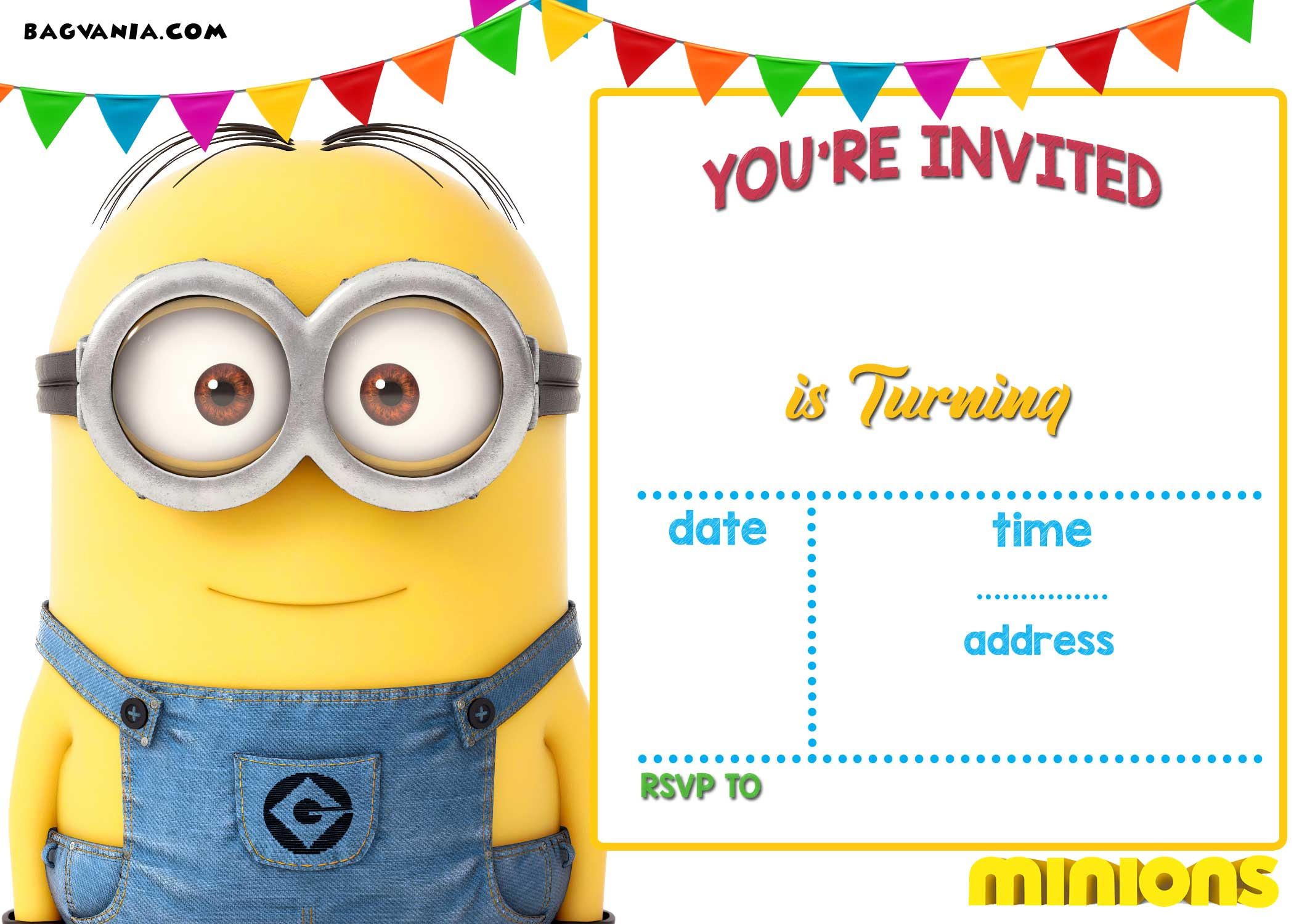 Blank Printable Minion Invitation Template Free Printable