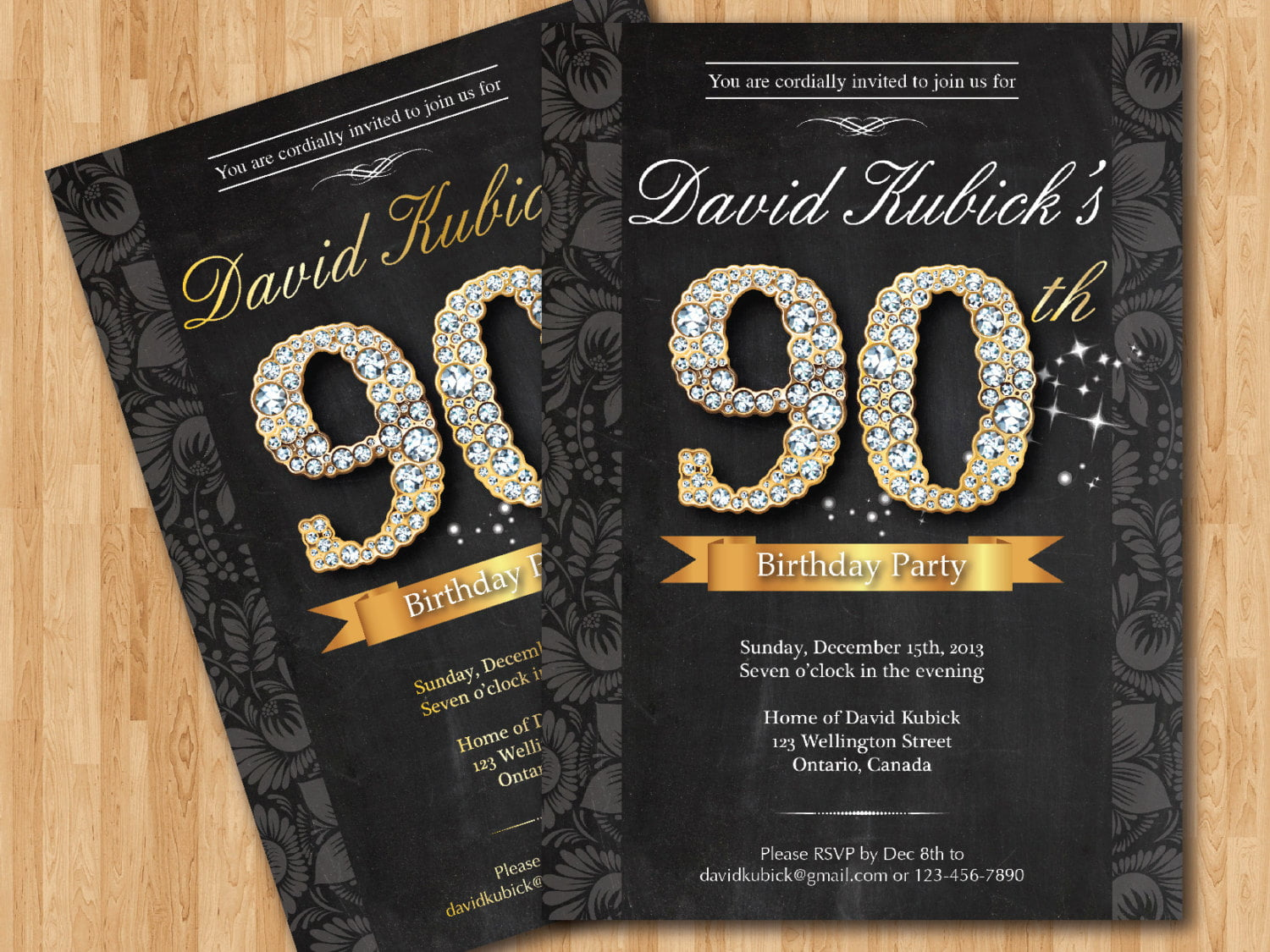 Free Printable 90th Birthday Invitations Bagvania FREE Printable